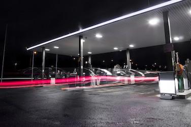 Petrolstation at night